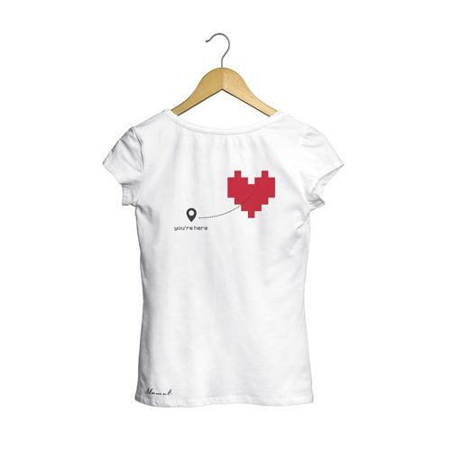 camiseta mujer you are here